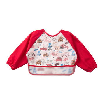 Baby Bib Smock - Red Car - 6-3years