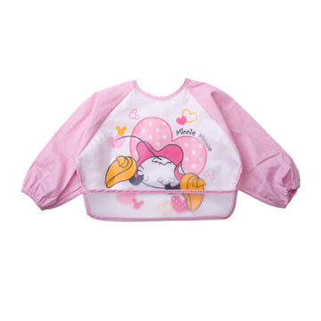 Baby Bib Smock - Pink Minnie- 6-3years