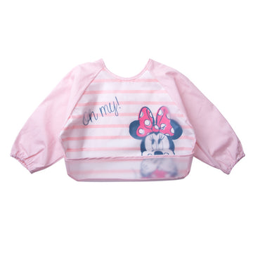 Baby Bib Smock - Minnie Pink Strip- 6-3years