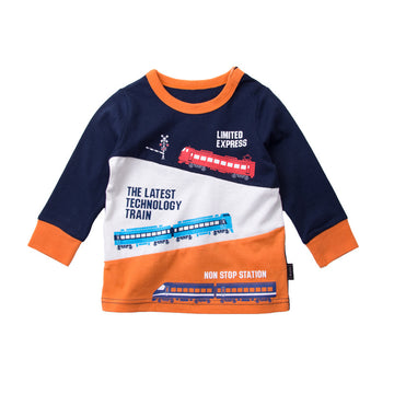 Toddler T-shirt Fall - Navy Train