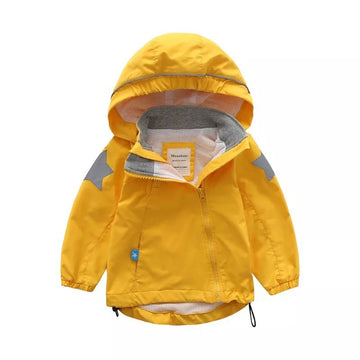 Fall Winter Toddler Jacket 秋冬防风冲锋衣- Yellow