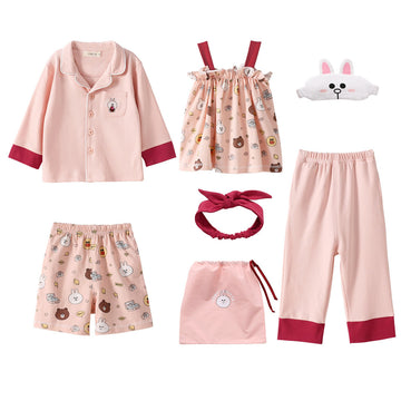 Toddler Girl Linefriend Homewear - Pink