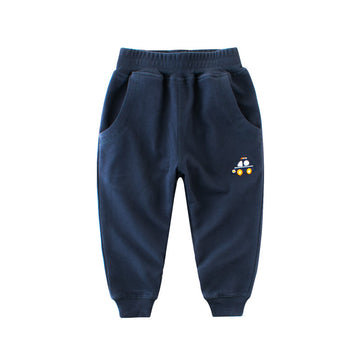 Toddler Pant with Car Logo - Navy