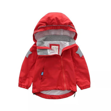 Fall Winter Toddler Jacket 秋冬防风冲锋衣- Red