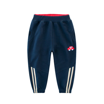 Sporty Pant with Car Logo - Navy