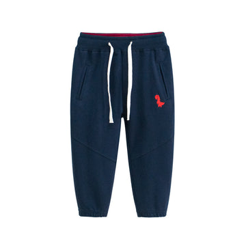 Sporty Pant with Dinosaur Logo - Navy