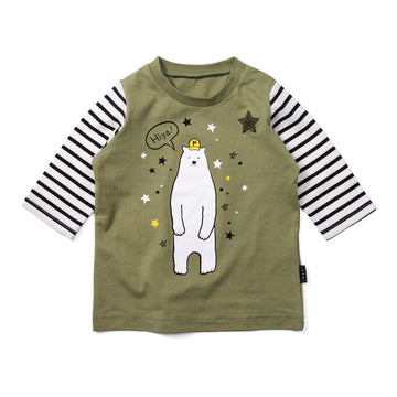 "Green Bear 7"" Sleeve T-shirt"