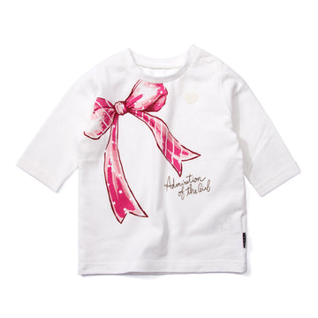 "Ribbon 7"" Sleeve T-shirt"