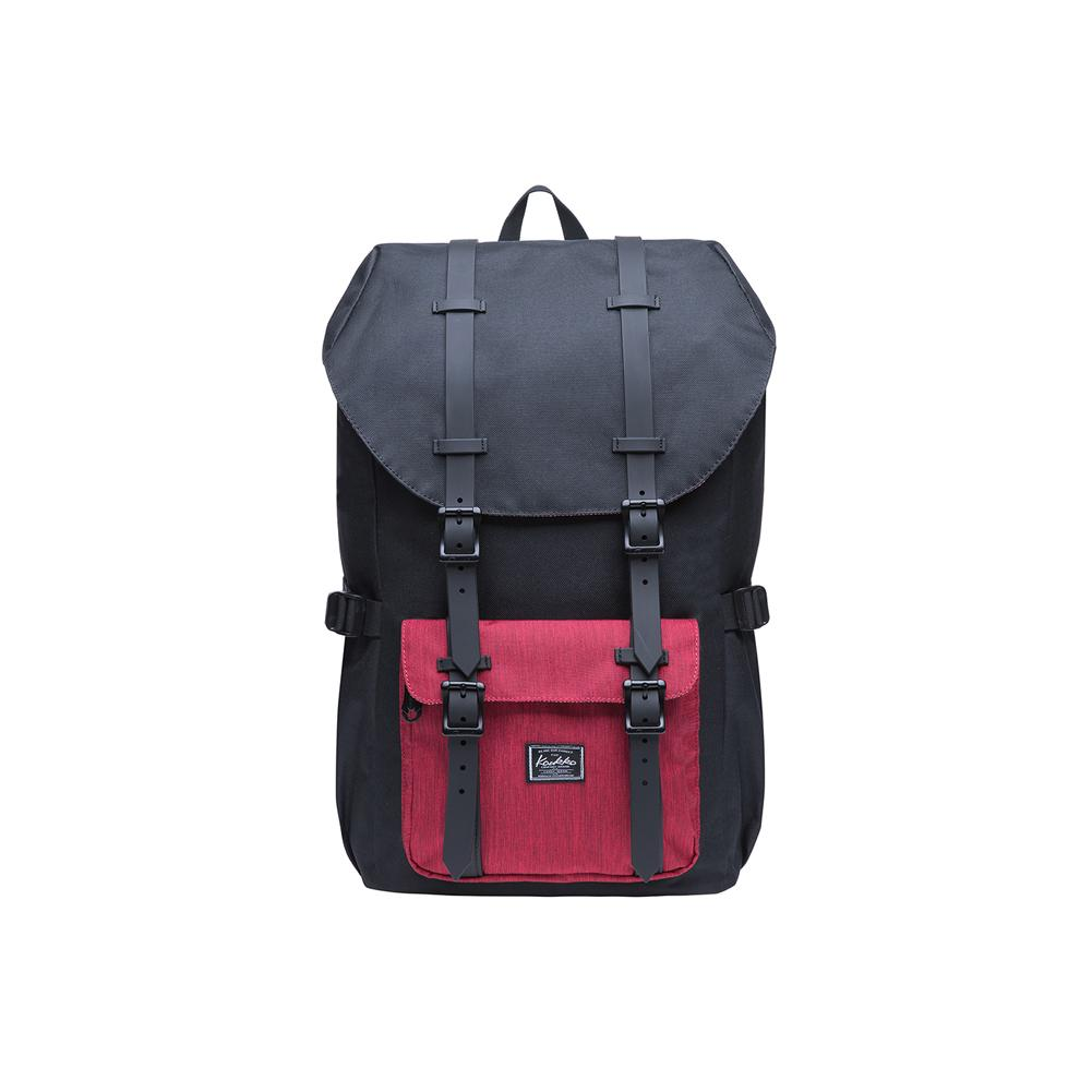 KAUKKO Backpack for city trips EP5-5 ( Black Red / 20.3L )