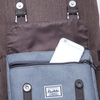 KAUKKO Backpack for city trips, EP5-4 ( Grey Coffee / 20.3L)