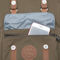 KAUKKO Backpack for city trips, EP5-11 ( Army Green / 19.7L )