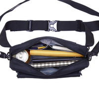 KAUKKO Water Repellent Lightweight Waist Bag With Adjustable Belt ( Black )