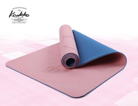 KAUKKO Yoga Mat, Eco Friendly Workout Mat, Non Slip Fitness Exercise Mat,Workout Mat With Body Alignment System, Pilates and Floor Exercises