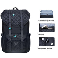 KAUKKO Backpack for city trips, EP5-20 ( Black / 14 L )