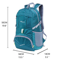 KAUKKO Ultra Lightweight Packable Backpack, Water Resistant Travel Hiking Shoulder Bag ( Green )
