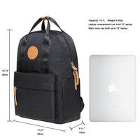 KAUKKO Backpack for daily use,  KS07 ( Black / 15.1L )