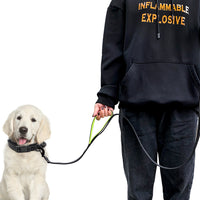 Reflective dog leash with two handles 1.5m / 1.8m with double hand strap