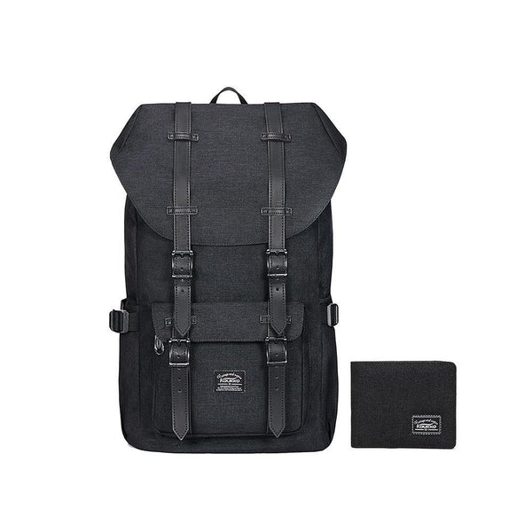 KAUKKO Backpack for city trips, EP5-2 ( Black+Pencil case / 19L )