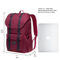KAUKKO Backpack for city trips, EP5-18 ( Red  /21.1L )