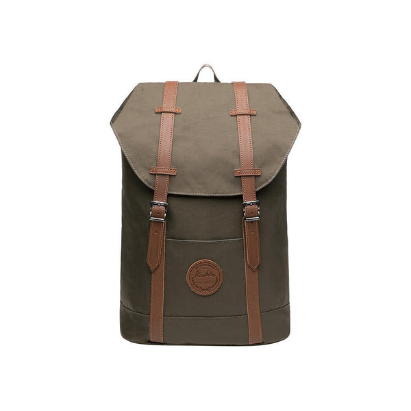 KAUKKO Backpack for city trips, EP6-9 ( Army Green / 18.1L )