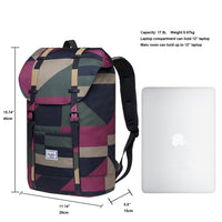 KAUKKO Lightweight Outdoor Daypack,Casual Travel Backpack, EP6-16 ( Camouflage / 17.8L )