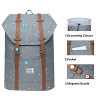 KAUKKO Backpack for city trips, EP6-10 ( Grey / 11.8L )