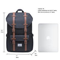 KAUKKO Backpack for city trips, EP5 ( Black+Phone bag / 16.1L )