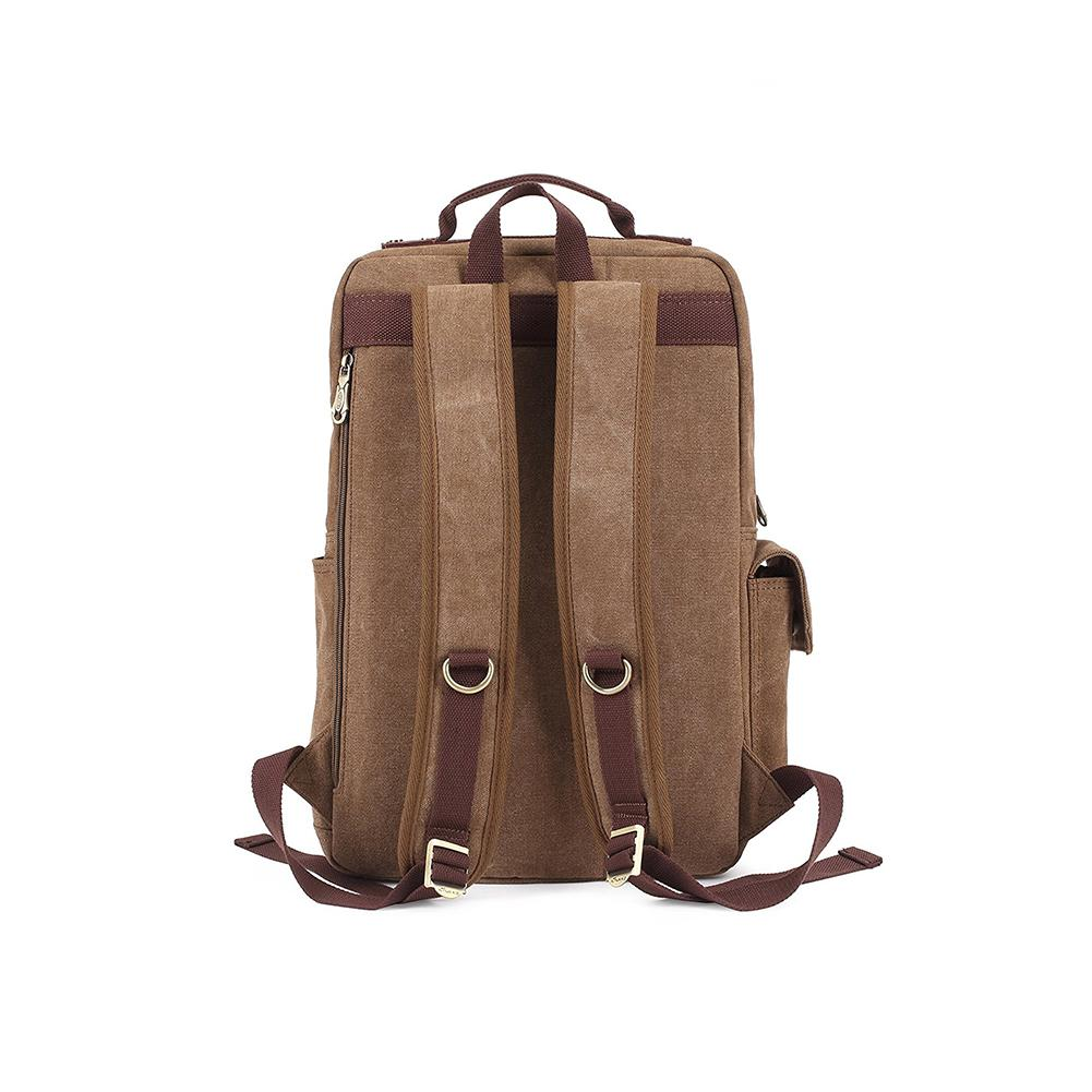 KAUKKO Outdoor Travel Men Backpack, Hiking Camping Canvas Rucksack ( Khaki )