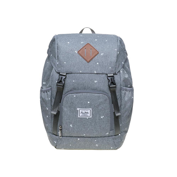 KAUKKO Backpack for daily use,  KY01-2  ( Grey / 15.2 L )
