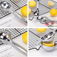 Stainless steel lemon extruder