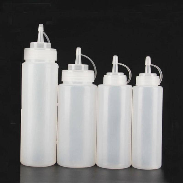 4 pcs Sauce Bottle, Plastic Sauce Bottle Used for Mustard, Mayonnaise, Olive Oil, Barbecue Sauce