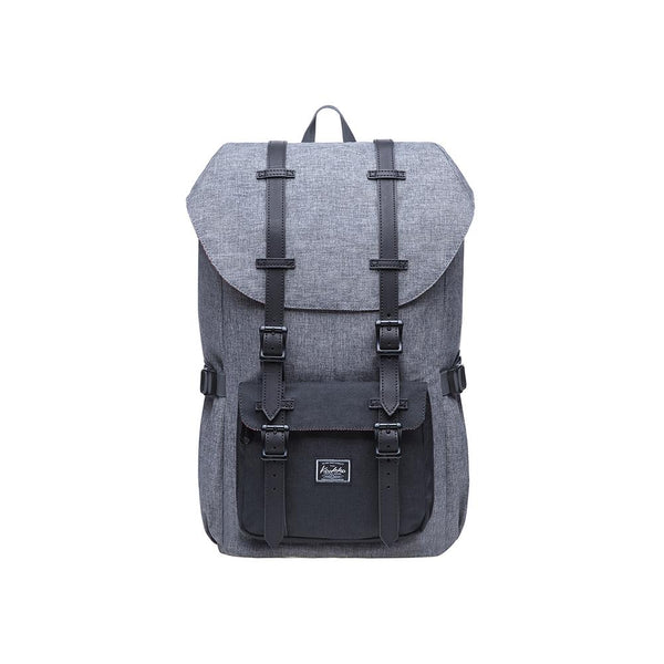 KAUKKO Backpack for city trips, EP5-5 ( Grey Black / 20.3L)