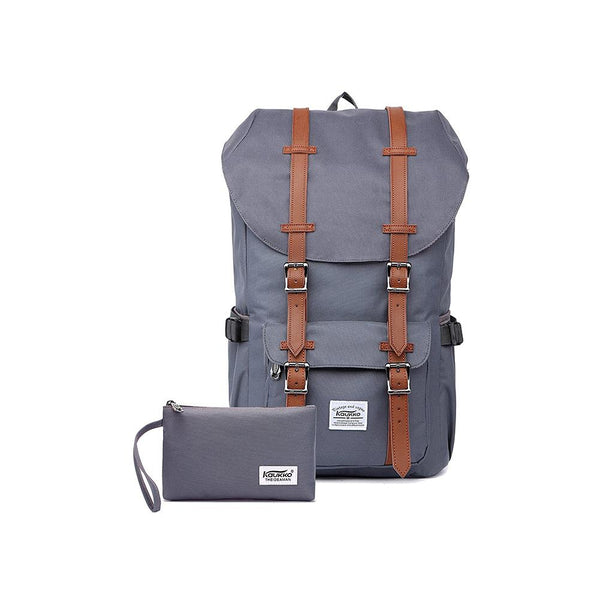 KAUKKO Backpack for city trips, EP5 ( Grey+Wallet / 22.4L )
