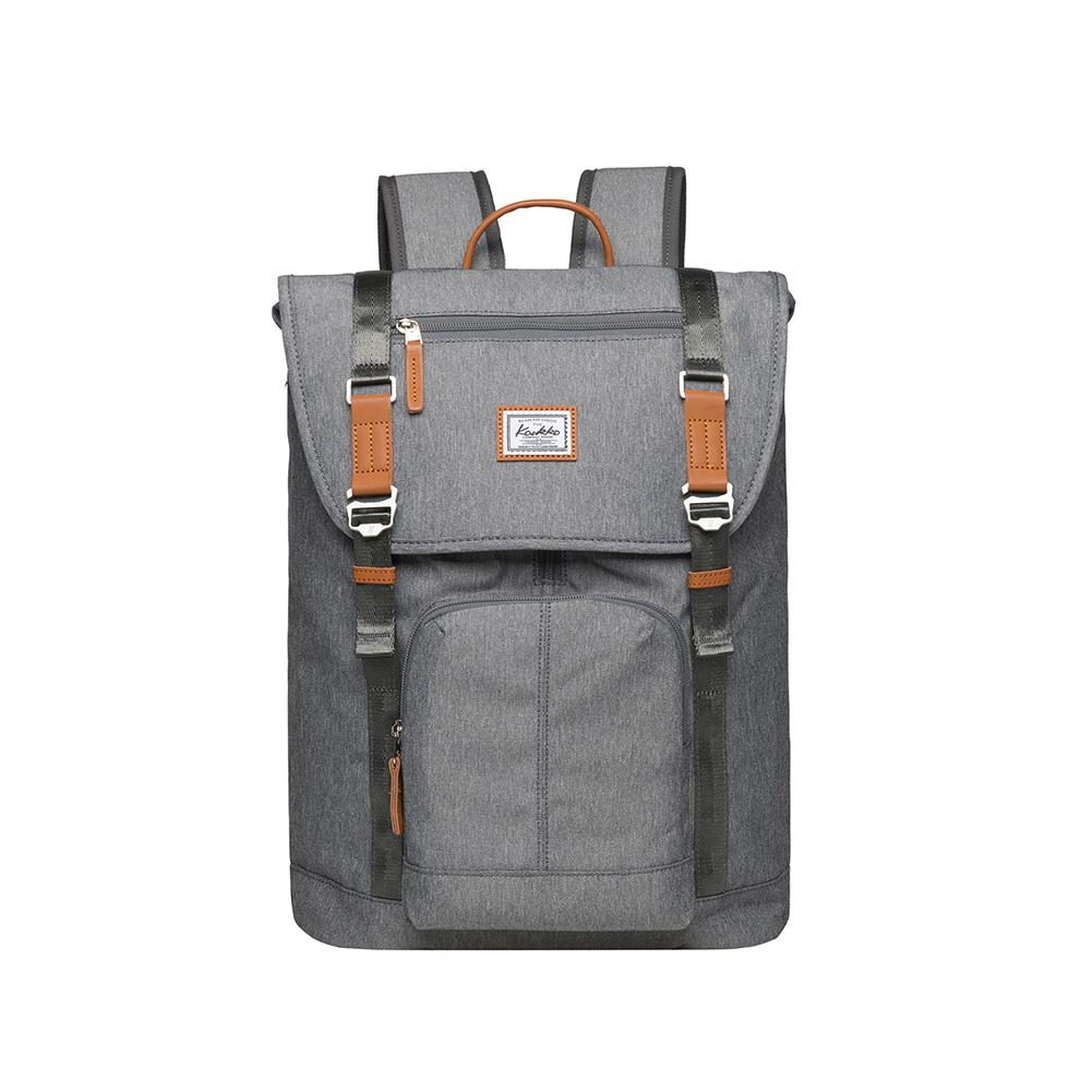 KAUKKO Backpack for city trips, KF13 ( Grey / 22.87L )