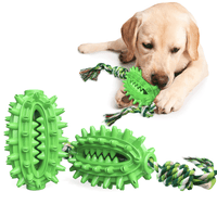 Dog chew toy with snack hiding place, interactive chew toy, puppy dental care for dogs, non-toxic, 2 pack