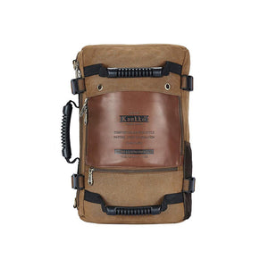 KAUKKO Outdoor Travel Men Backpack, Hiking Camping Canvas Rucksack