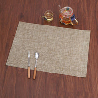Non-Slip PVC Placemats Environmentally Friendly Washable Placemat(random 4Pcs)