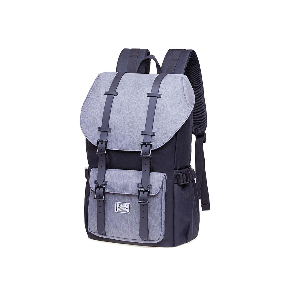 KAUKKO Backpack for city trips, EP5-4 ( Black Grey / 20.3L)