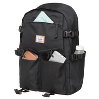 KAUKKO Backpack for School, KS22 ( Black / 18.4L )