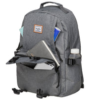 KAUKKO Backpack for School,  KS21 ( Grey-2 / 18.4L )