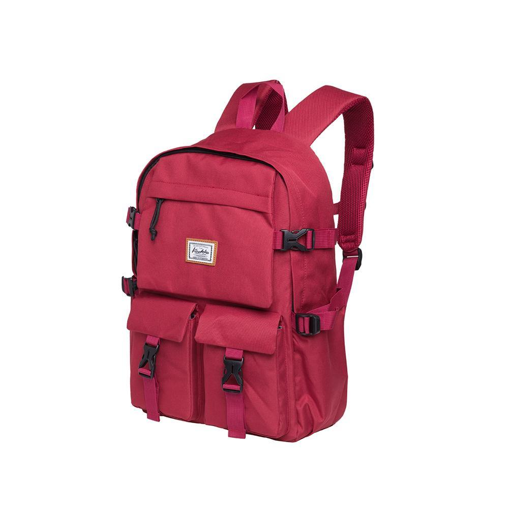 KAUKKO Backpack for School, KS22 ( Red / 18.4L )