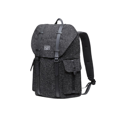 KAUKKO Backpack for daily use, K1048( Black / 17.8 L )
