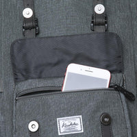 KAUKKO Backpack for city trips, EP5-6 ( Grey Green / 16.1L )