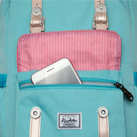 KAUKKO Backpack for city trips, EP5-14 ( Fairy bluegreen / 14L )