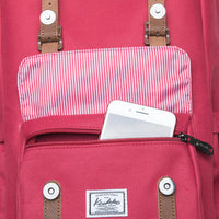 KAUKKO Backpack for city trips, EP5-7 ( Red / 16.1L )