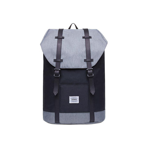 KAUKKO Backpack for city trips, EP6-4 ( Black Grey/ 18.1L )