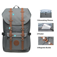KAUKKO Backpack for city trips, EP5-11 ( Grey+Phone bag / 19.7L )
