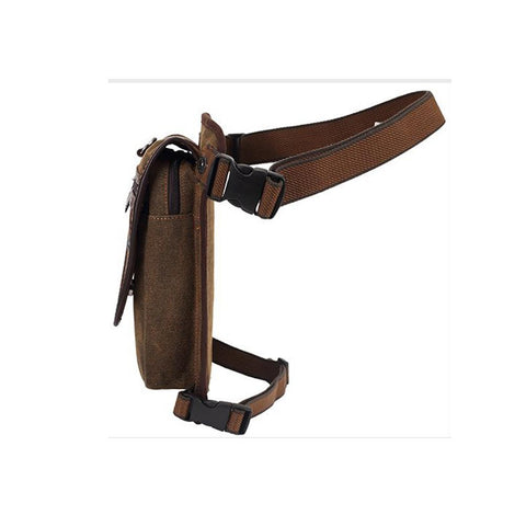 KAUKKO Vintage Canvas Chest Pack Men Women Travel Hiking Shoulder Bag