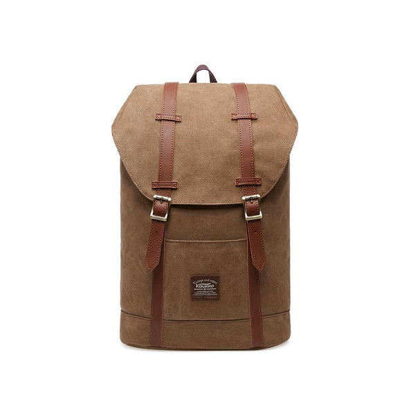 KAUKKO Backpack for city trips, EP6-3 ( Brown / 18.1L )