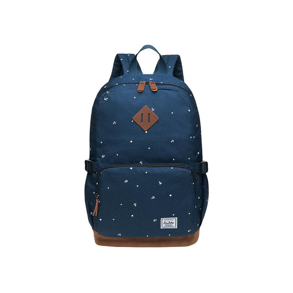 KAUKKO Elegant College School Backpack Women Daypacks, K1005-3 ( Blue / 17L )